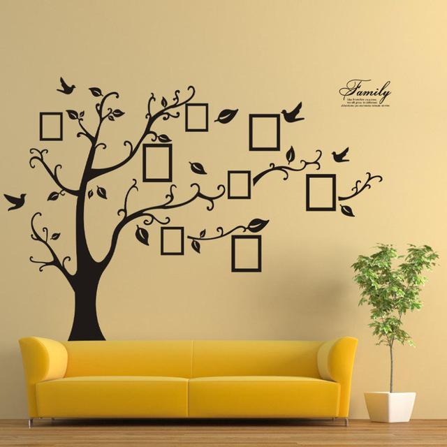 Интерьерные наклейки «Дерево с фотографиями»