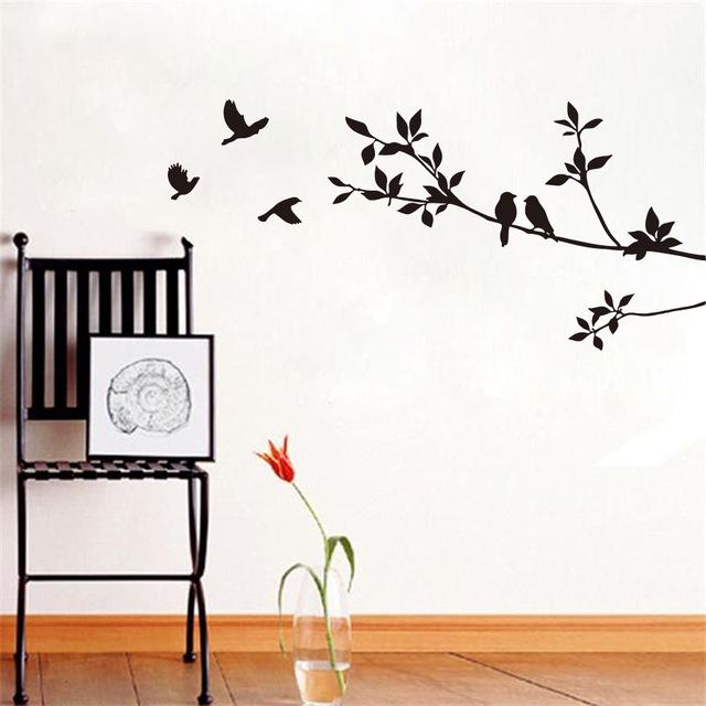 Наклейки на стену в комнате для гостей «Птицы».