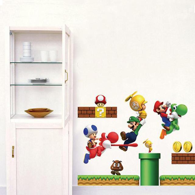 Наклейка на стену в детскую комнату «Супер – братья Марио»