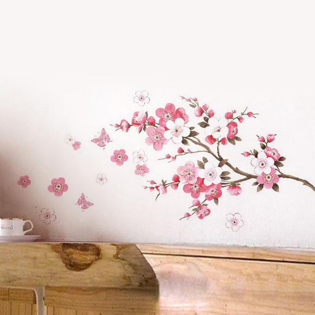 Наклейка для декора «Ветка цветущего персика»