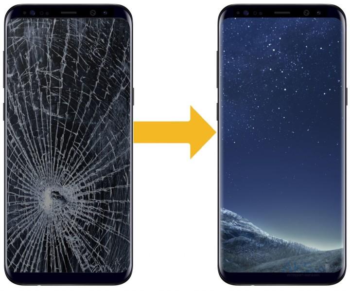 К сожалению, даже у Samsung galaxy S8 тоже ломается экран