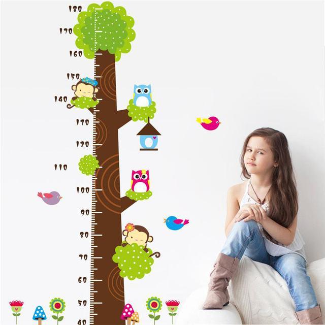 Наклейка на стену больших размеров «Дерево для измерения роста».