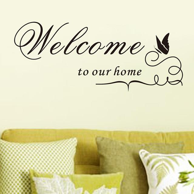Объемные наклейки с цитатой «Добро пожаловать в наш дом»