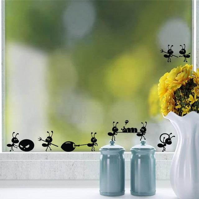Стикеры на стекло «Отряд муравьев»