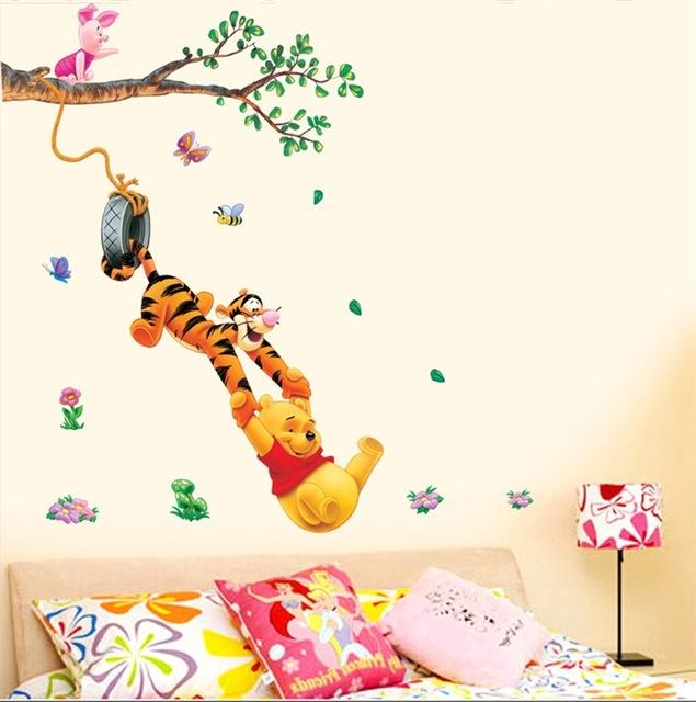 Наклейки в комнату для детей с изображением различных животных